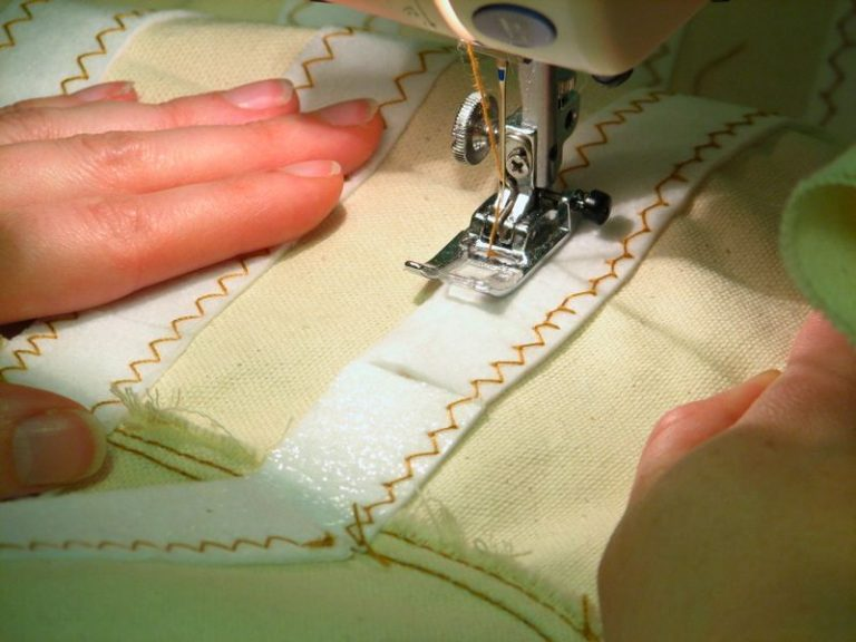 Sewing and Notions: sewing interfacing into a sewing project