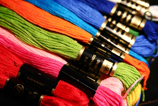 embroidery floss different colors