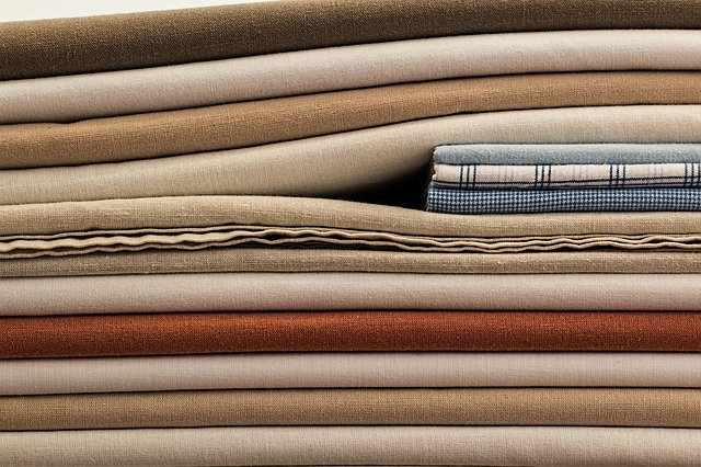 different colored linen