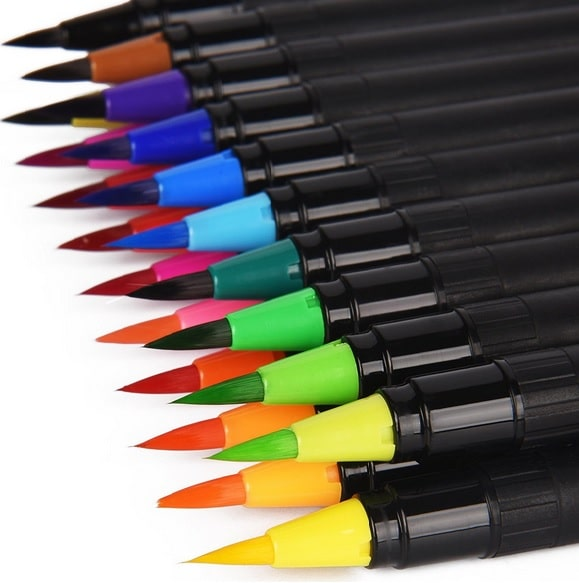 Blendable markers for ink stamping.