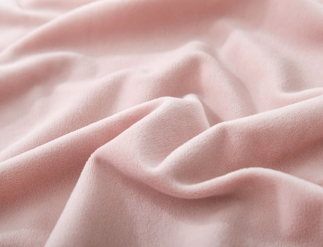 When you know your fabrics you can buy light pink velvet like the velvet in this photo.