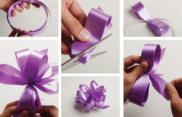 How to Make a Floral Bow Out of Ribbon