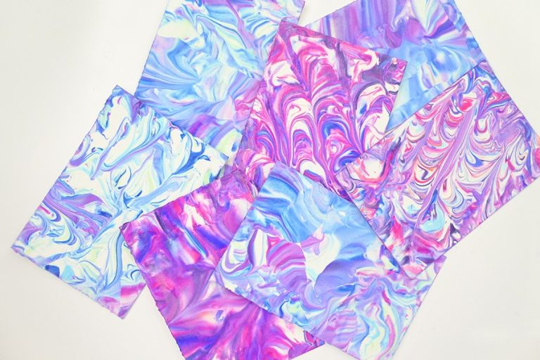 Marbling paper crafts