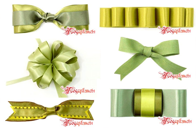different ribbon bows style