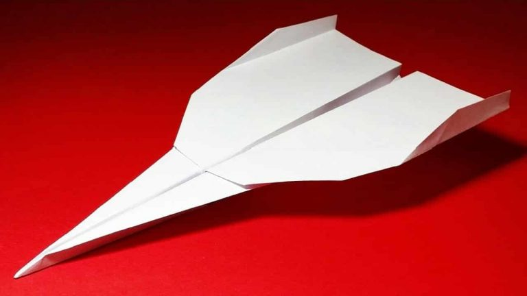 best paper airplane on a red background
