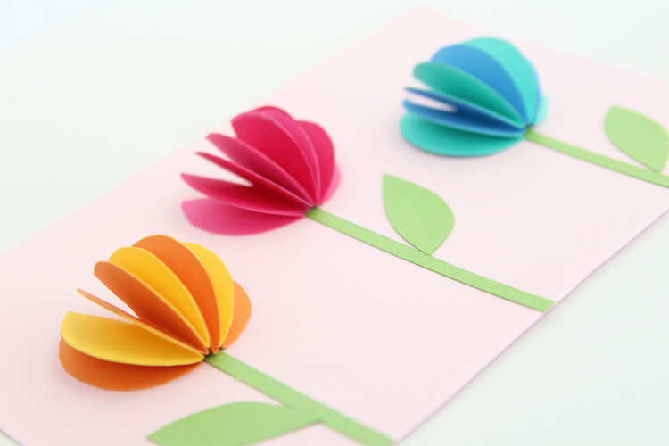 orange red blue flower and how to make paper flowers