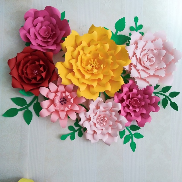 different paper flowers and how to make paper flowers