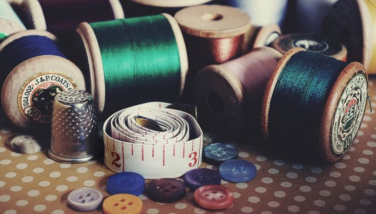 materials to use on how to sew a button