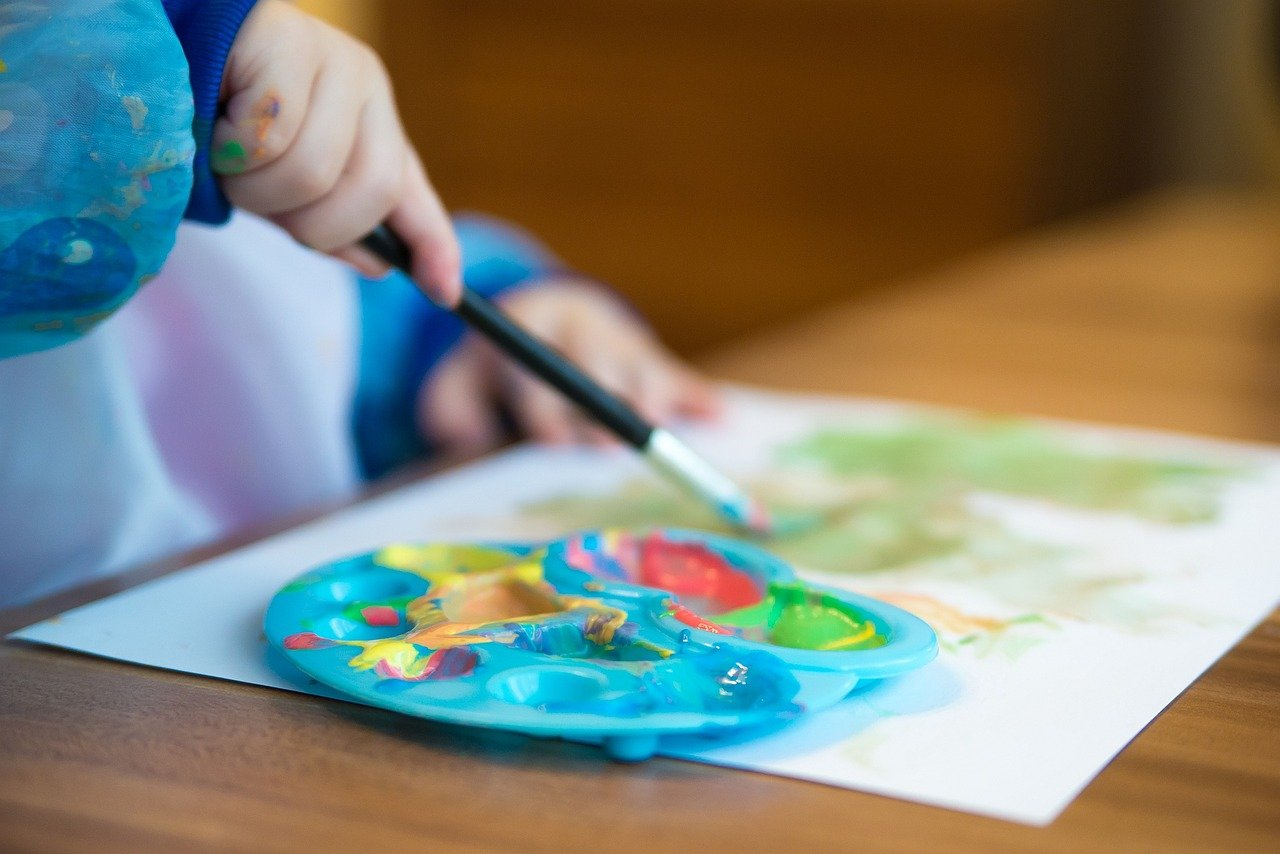 toddler crafts painting